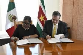 Suriname en Mexico tekenen visumafschaffingsovereenkomst